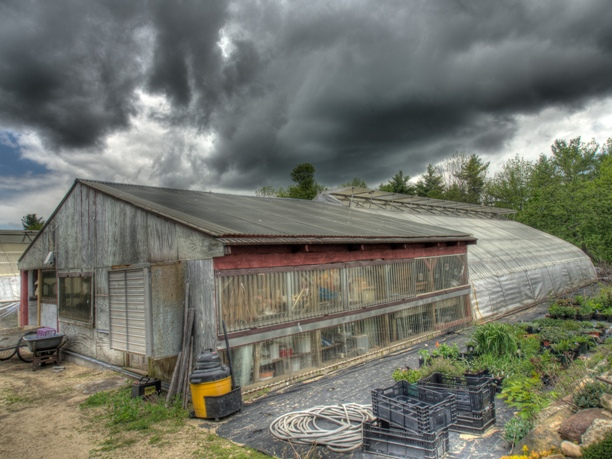 Clouds over Potting Shed